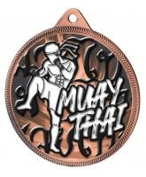 Muay Thai Classic Texture 3D Print Bronze Medal