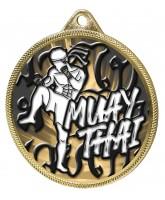 Muay Thai Classic Texture 3D Print Gold Medal