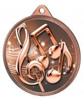 Music Notes Classic Texture 3D Print Bronze Medal