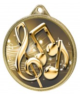 Music Notes Classic Texture 3D Print Gold Medal