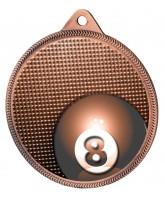 Pool Classic Texture 3D Print Bronze Medal