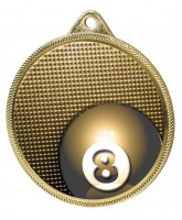Pool Classic Texture 3D Print Gold Medal