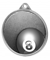 Pool Classic Texture 3D Print Silver Medal