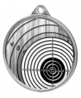 Shooting Target Classic Texture 3D Print Silver Medal