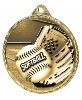 Softball Classic Texture 3D Print Gold Medal