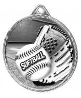 Softball Classic Texture 3D Print Silver Medal