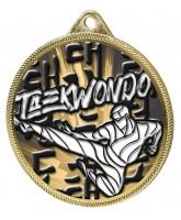 Taekwondo Classic Texture 3D Print Gold Medal