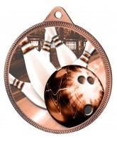 Tenpin Bowling Classic Texture 3D Print Bronze Medal