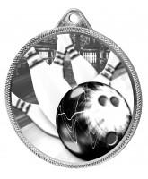 Tenpin Bowling Classic Texture 3D Print Silver Medal