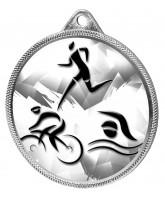 Triathlon Classic Texture 3D Print Silver Medal