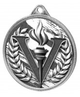 Victory Classic Texture 3D Print Silver Medal