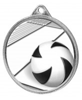 Volleyball Classic Texture 3D Print Silver Medal