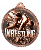 Wrestling Classic Texture 3D Print Bronze Medal