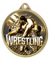Wrestling Classic Texture 3D Print Gold Medal