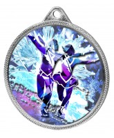 Ice Dance Skaters Colour Texture 3D Print Silver Medal
