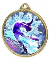 Ice Figure Skater Colour Texture 3D Print Gold Medal