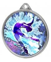 Ice Figure Skater Colour Texture 3D Print Silver Medal