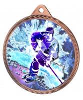 Ice Hockey Colour Freeze Texture 3D Print Bronze Medal