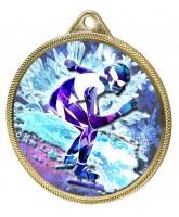 Speed Skater Colour Texture 3D Print Gold Medal
