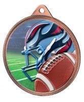 American Football Colour Texture 3D Print Bronze Medal