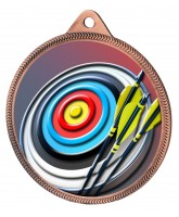 Archery Colour Texture 3D Print Bronze Medal