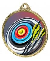 Archery Colour Texture 3D Print Gold Medal