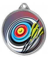 Archery Colour Texture 3D Print Silver Medal