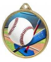 Baseball Homerun Colour Texture 3D Print Gold Medal