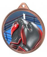 Boxing Colour Texture 3D Print Bronze Medal