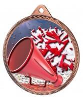 Cheerleading Colour Texture 3D Print Bronze Medal