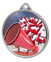 Cheerleading Colour Texture 3D Print Silver Medal