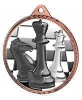 Chess Colour Texture 3D Print Bronze Medal