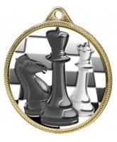 Chess Colour Texture 3D Print Gold Medal