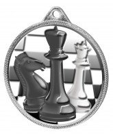 Chess Colour Texture 3D Print Silver Medal