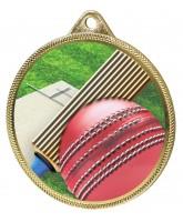 Cricket Colour Texture 3D Print Gold Medal