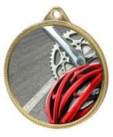 Cycling Colour Texture 3D Print Gold Medal