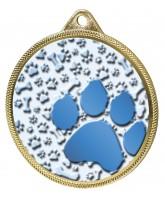 Dog Paw Colour Texture 3D Print Gold Medal