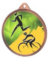 Duathlon Colour Texture 3D Print Bronze Medal