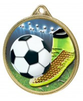 Football Boot and Ball Colour Texture 3D Print Gold Medal