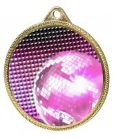 Glitterball Dance Pink Texture 3D Print Gold Medal