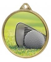 Golf Colour Texture 3D Print Gold Medal