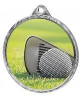 Golf Colour Texture 3D Print Silver Medal