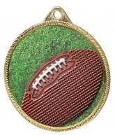 Gridiron Football Colour Texture 3D Print Gold Medal