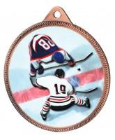 Ice Hockey Colour Texture 3D Print Bronze Medal