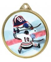 Ice Hockey Colour Texture 3D Print Gold Medal