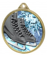 Ice Skating Boots Black Colour Texture 3D Print Gold Medal