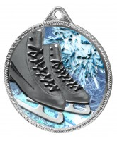 Ice Skating Boots Black Colour Texture 3D Print Silver Medal