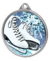 Ice Skating Boots White Colour Texture 3D Print Silver Medal