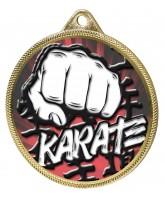 Karate Colour Texture 3D Print Gold Medal