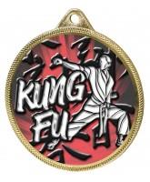 Kung Fu Colour Texture 3D Print Gold Medal